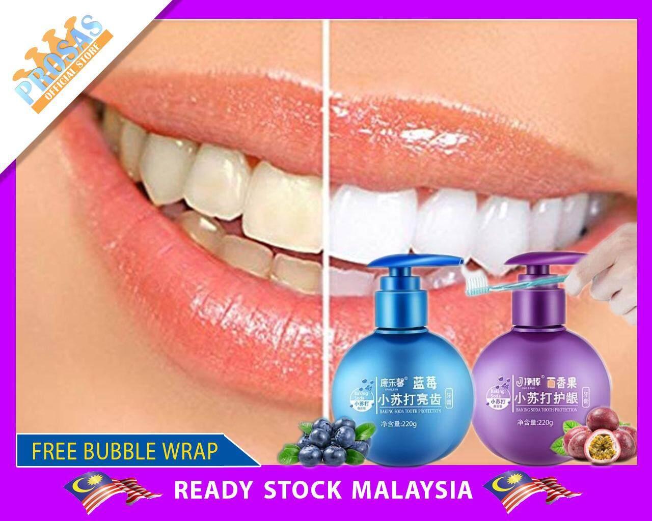 Pemutih Gigi Baking Soda Whitening Toothpaste Blueberry & Passion Fruit