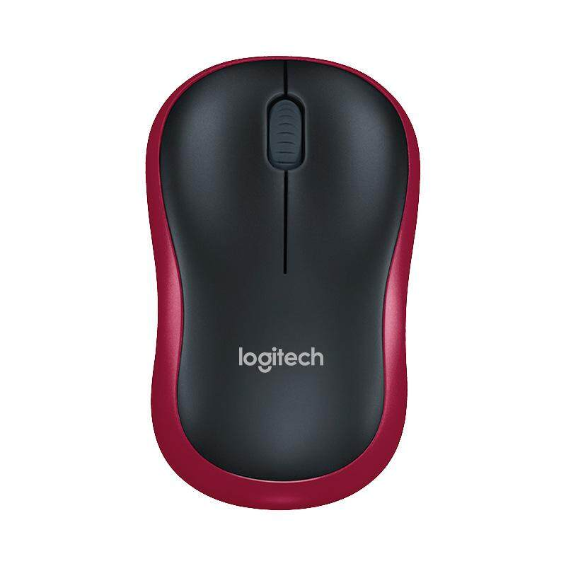 Logitech M186 Mouse Optical Ergonomic 2.4GHz Wireless USB 1000DPI Mice Opto-electronic Both Hands Mouse for Office Home Laptop Malaysia