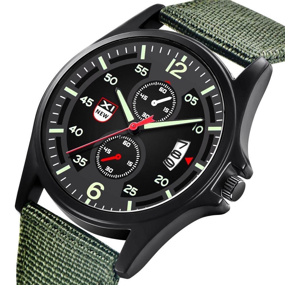 Image 2 for XINEW ทหารไนลอนกันน้ำวันที่ควอตซ์ Analog Army Men's QUARTZ นาฬิกาข้อมือ