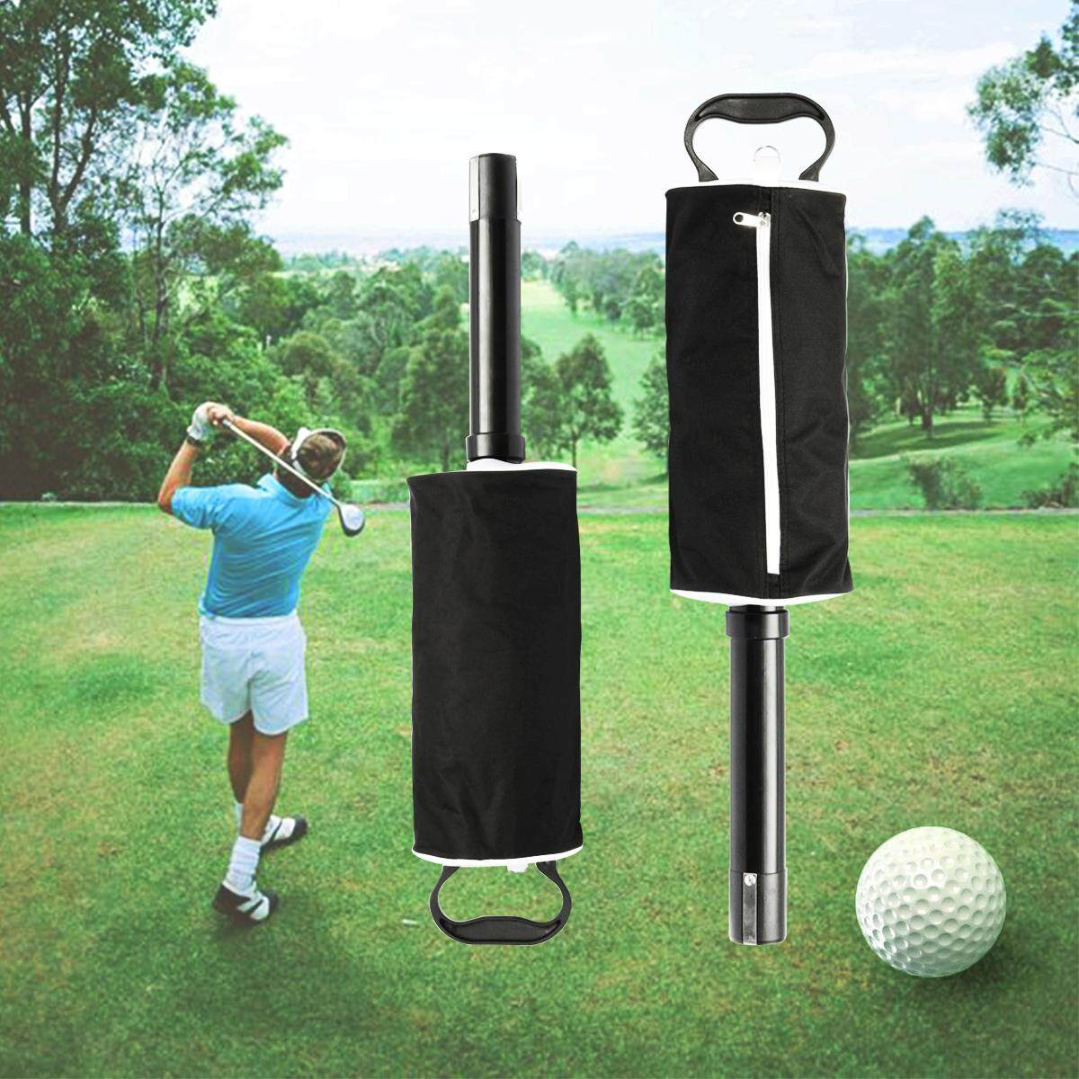 【free Shipping + Flash Deal】black Golf Ball Pick Up Zipper Shag Bag With Handle Retriever Collector Storage By Freebang.