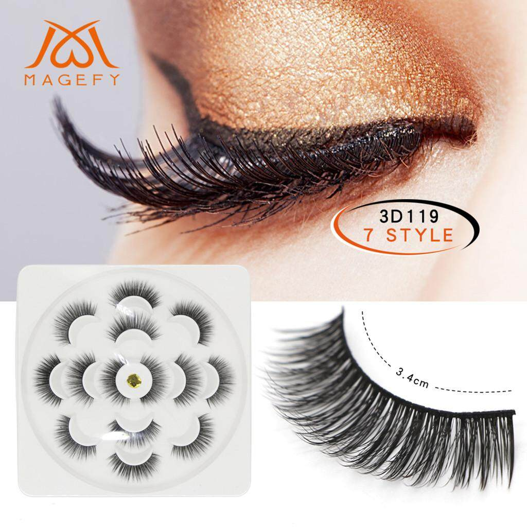 7Pair Luxury 3D False Lashes Fluffy Strip Eyelashes Long Natural Party H