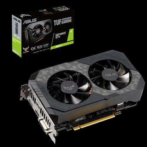 # ASUS TUF-GTX1660TI-O6G-GAMING # ASUS TUF Gaming GeForce® GTX 1660 Ti OC edition 6GB GDDR6 rocks high refresh rates for an FPS advantage without breaking a sweat.