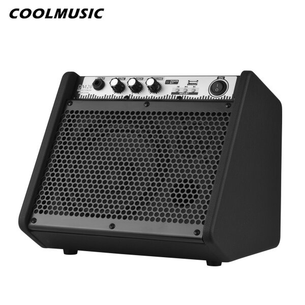 COOLMUSIC DM20 20W Electric Drum Amplifier Keyboard Amp Wireless BT Speaker 2-Band EQ Supports USB MP3 Player Function Malaysia