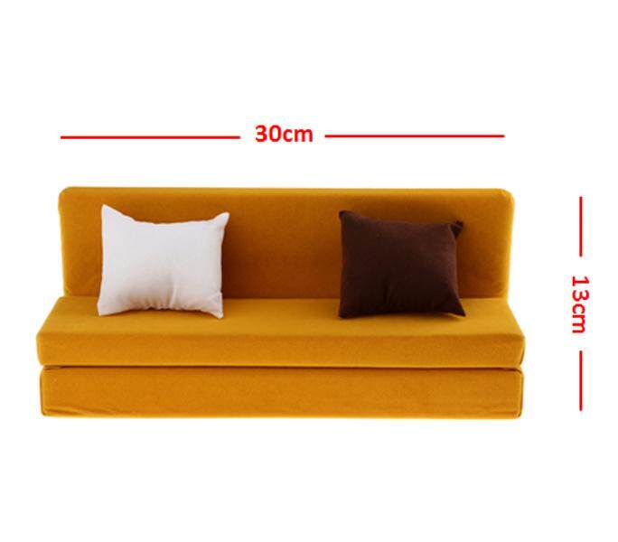 Kesoto 31cm Sofa Couch +2 Cushions for Doll House Accessories Miniature Furniture Sets Children Gift