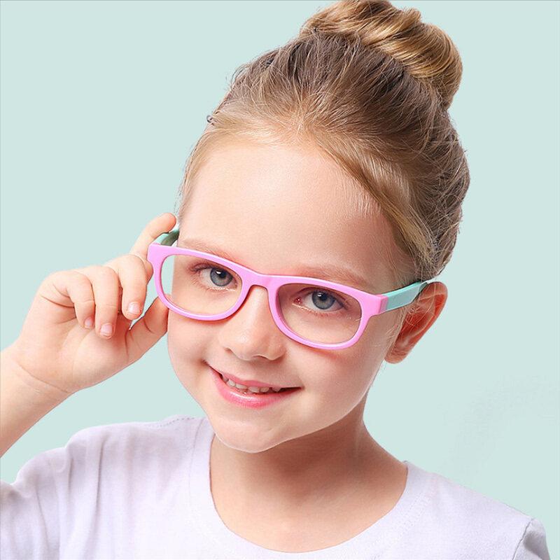 Giá bán Kính Ánh Sáng Xanh 2020 Thời Trang Trẻ Em Nam Nữ Chặn Máy Tính Kính Mắt Trong Suốt Quang Học TR90 Khung UV400