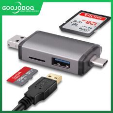 GOOJODOQ Card Reader Micro USB 2.0 Loại C Để SD Micro SD TF Adapter Phụ Kiện OTG Cardreader Bộ Nhớ Thông Minh SD Card Reader