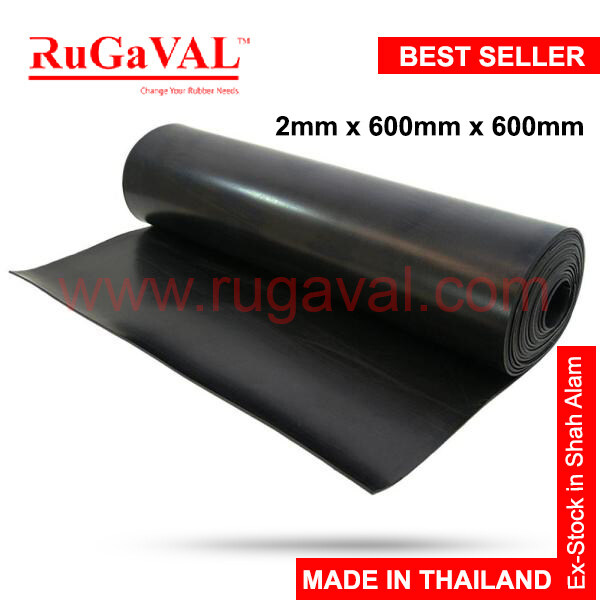 Neoprene Rubber Sheet I Size:2mm(Thk)x600mm(Width)x600mm(L) I Chloroprene rubber (CR) I Rubber Sheet Smooth Surface I CR Rubber Sheet I READY STOCK IN SELANGOR MALAYSIA
