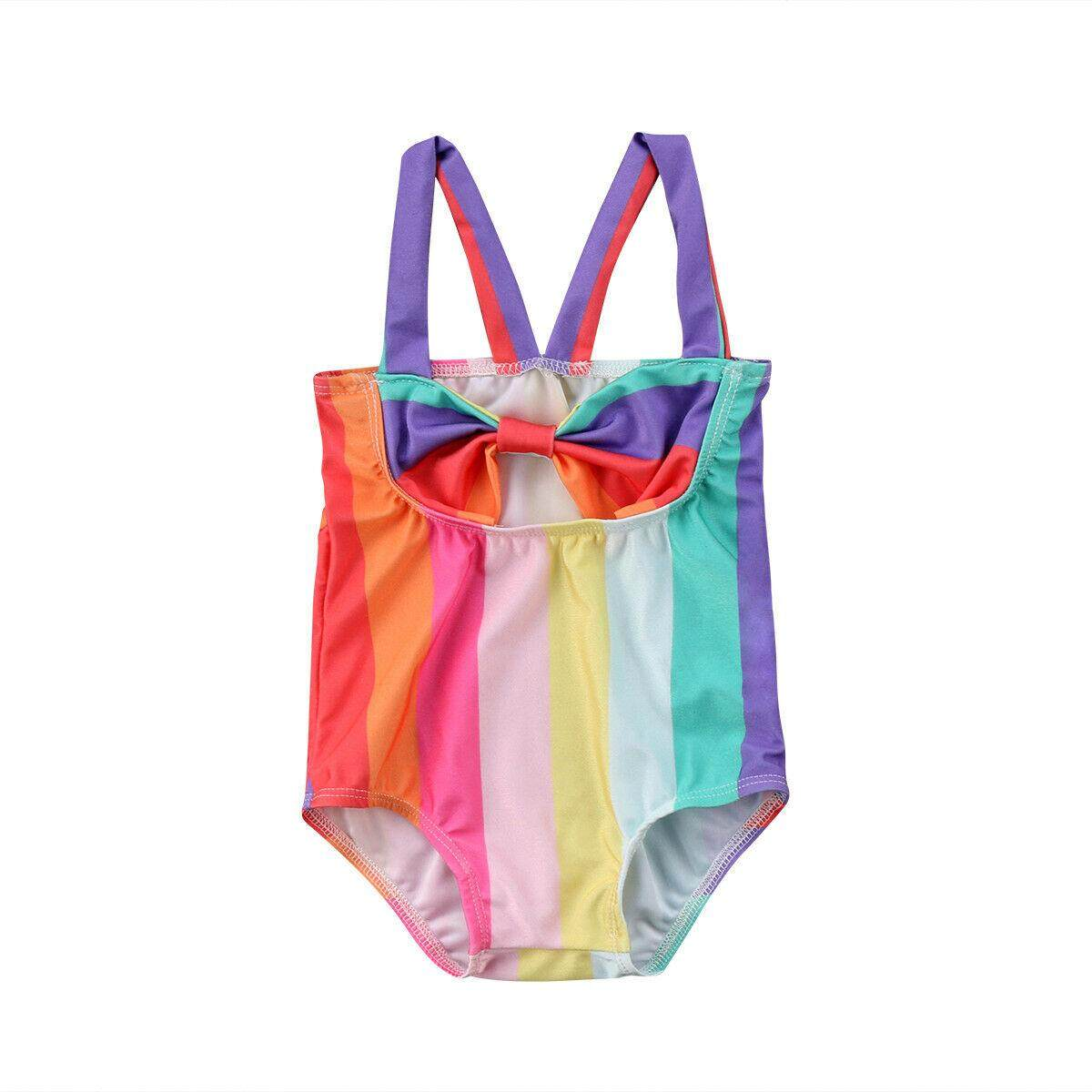 fbfdd4a81e Rainbow Toddler Kids Baby Girl Swimsuit Bikini Swimwear Bathing Suit  Beachwear