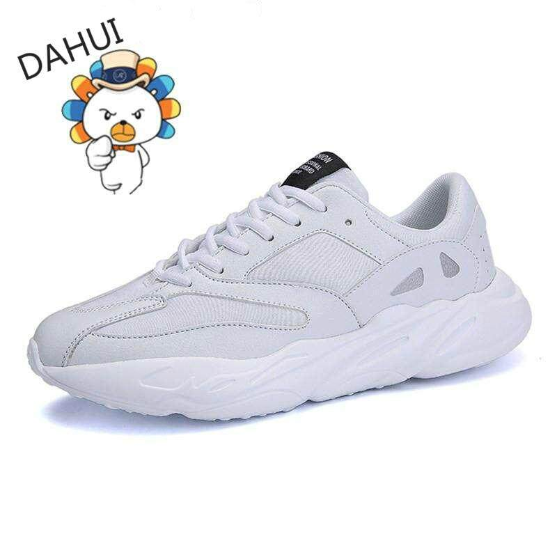 3996b5e870d Men Casual Shoes Lace-up Style Waterproof Suede Fashion Man Shoes Sneakers  Runing Shoes (White)