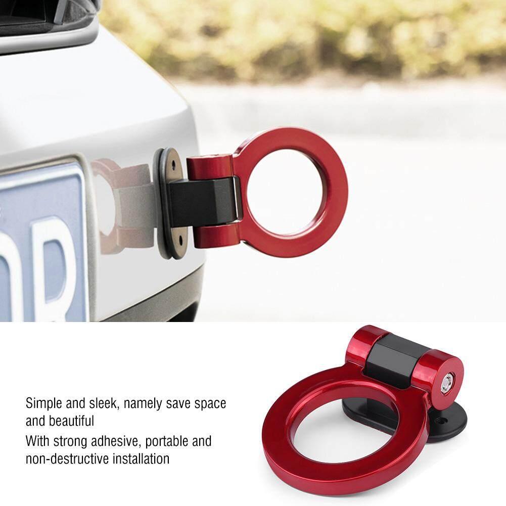 Nihua-Mobil Dimodifikasi Perekat Traksi Cincin Bundar Penarik Bar Hook Trailer Dekorasi (merah) By Nihua Store.