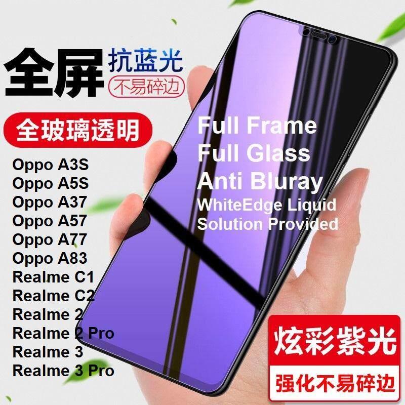 Oppo A37 A57 A77 A3S A5S A83 Realme 3 2 Pro Realme2 C1 C2 Anti Blueray Full  Tempered Glass