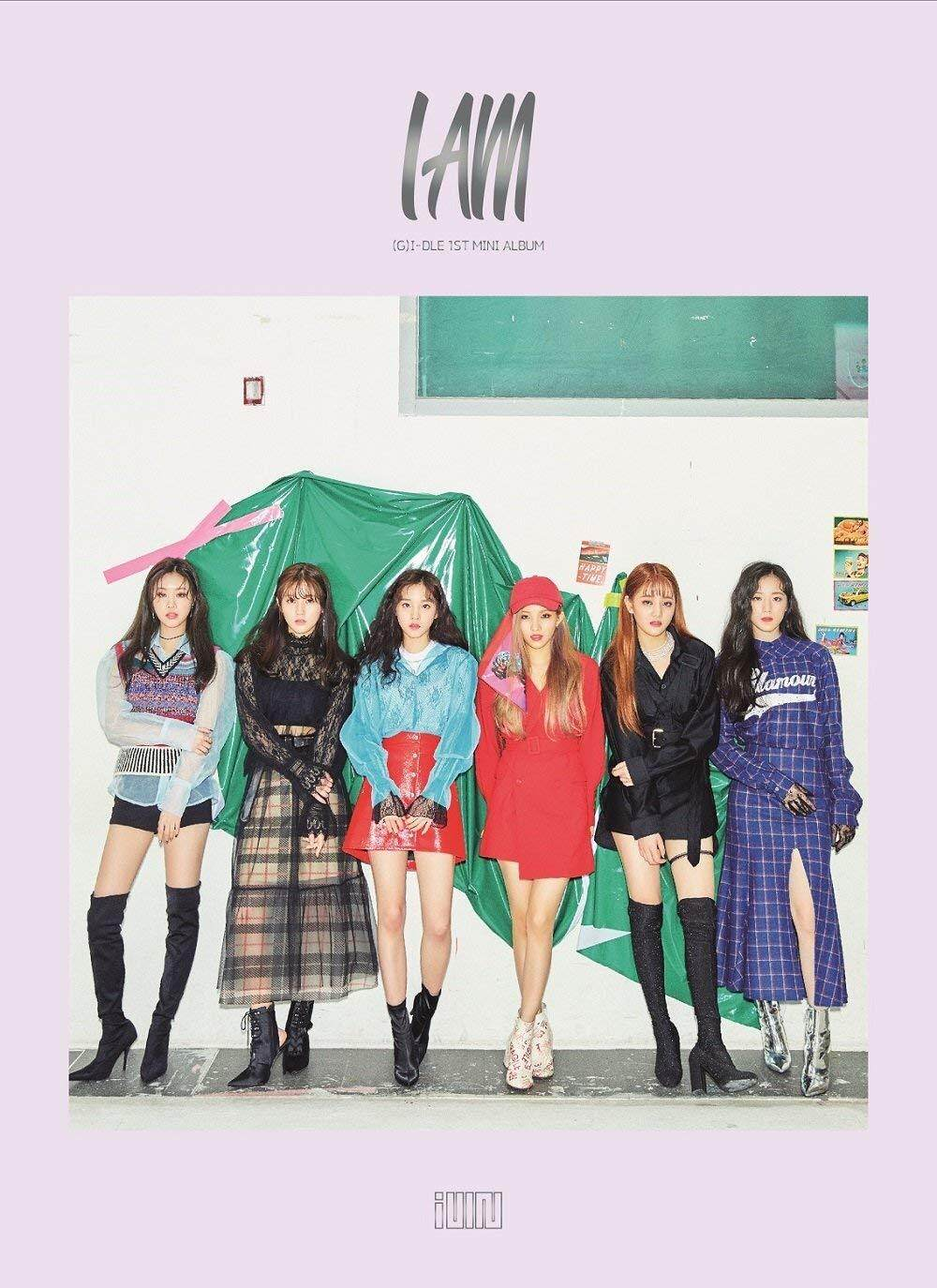 (G) I-DLE - I am (1st Mini Album) CD+Booklet+Photocard+ID Photo+2Stickers+Folded Poster