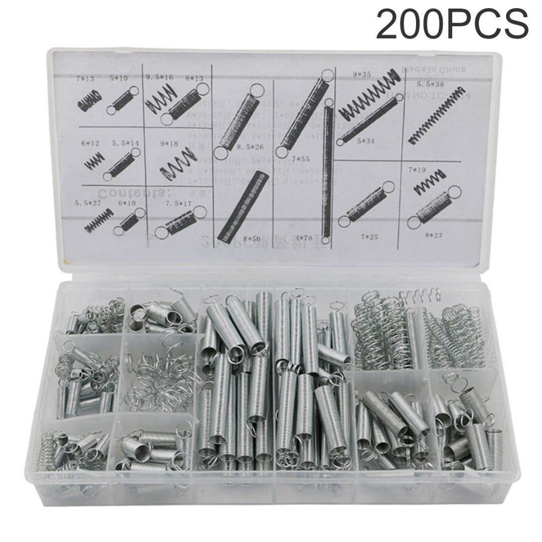 idealhere 200pcs 20 Size Compression Spring Tension Galvanized Springs Assortment Kit