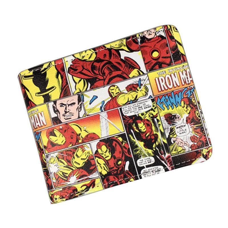 Comics Iro_n_ma_n Purse Anime Cartoon Ir_on M_an Wallets In Super He_ro Dollar Price Money Bags Carteira Boy Girl Short Wallet