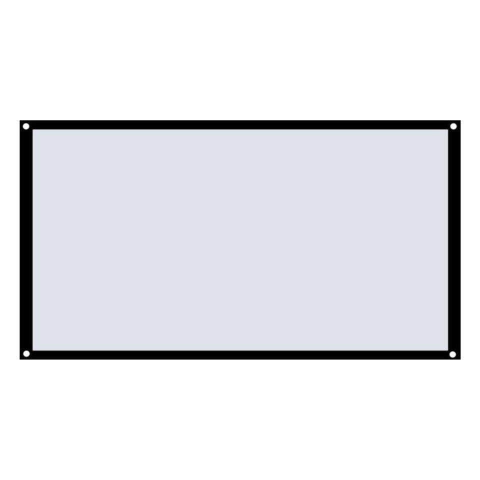 Bán Chạy nhất 16:9 Nhà Màn Hình Chiếu Polyester Mềm Mại Sân Khấu Điện Ảnh Phim Video Màn Hình