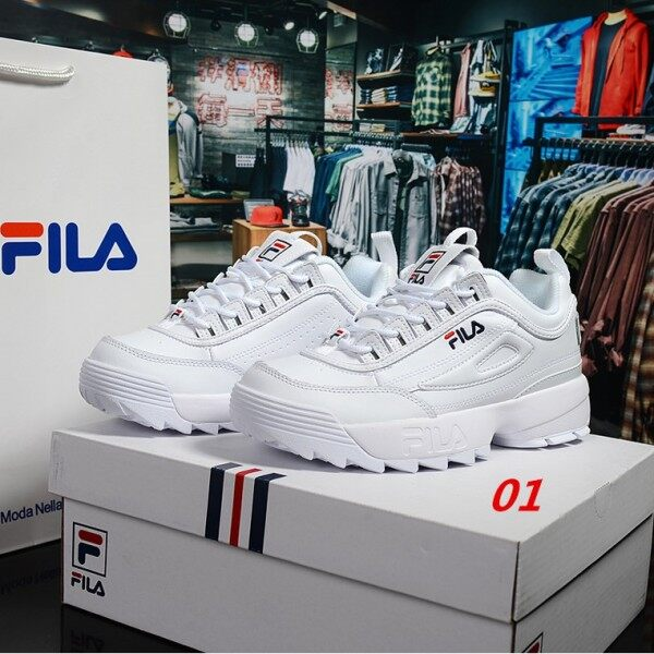 2020 new ready-to-spot real original FILA Disruptor II 2 white new box label size 35-44 order a pair of socks