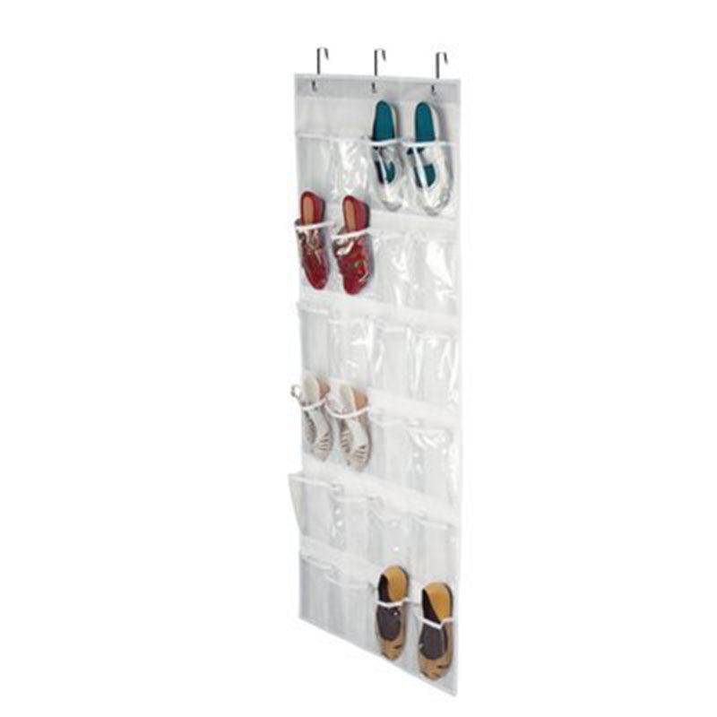 Cửa Tủ Quần Áo Treo Giày Kệ Xếp 4 Màu 3 Móc Trang Chủ Trên Chủ 24 Túi Thực Tế