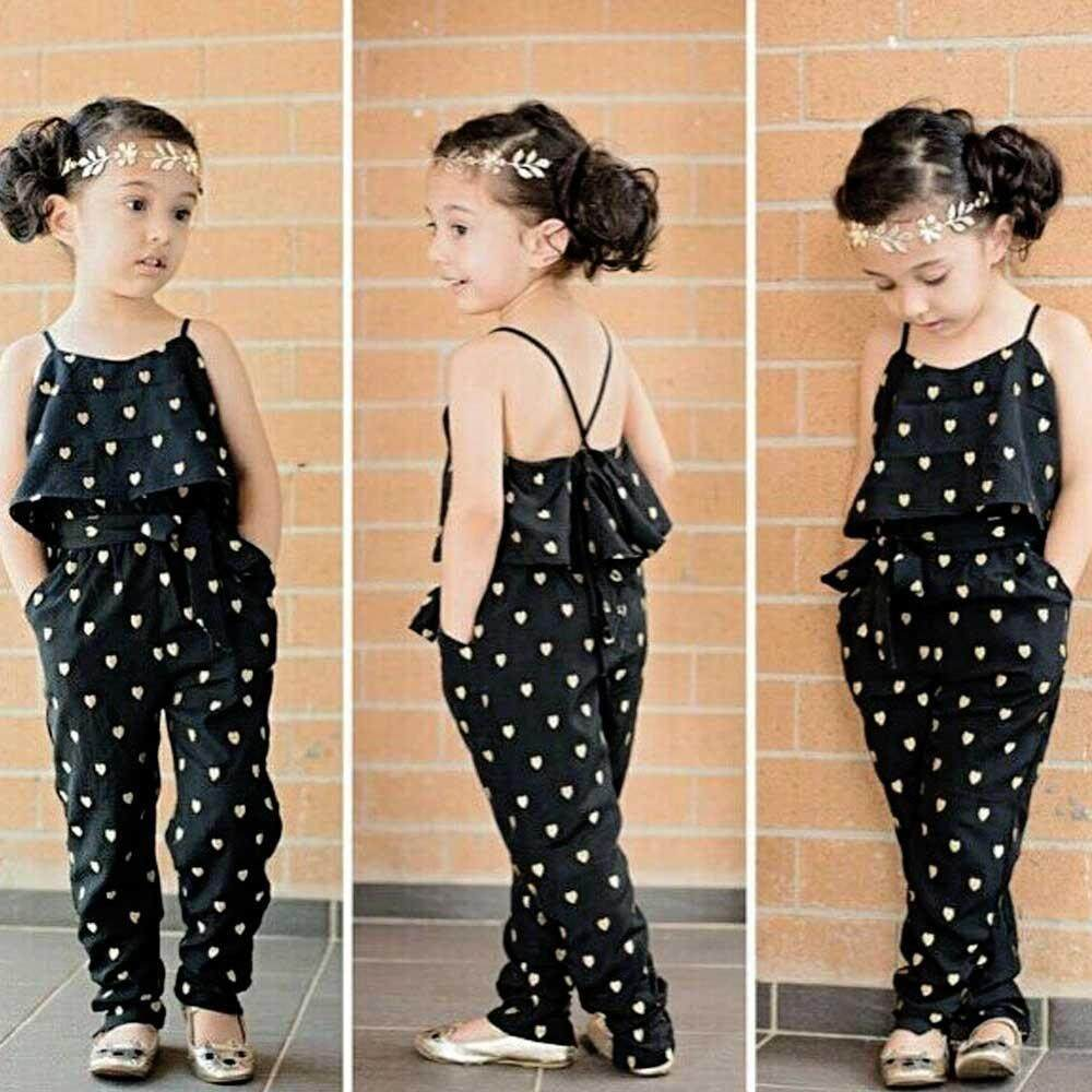 e7ca5a73ca8de BuyInBulk Kids Summer Jumpsuit Clothes, Sleeveless Girls Clothes Kids Girls  2 Pieces Clothing Set