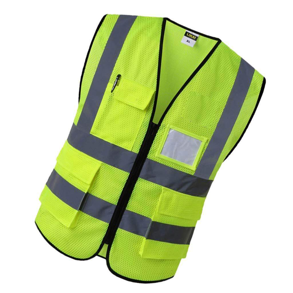Miracle Shining Reflective Safety Vest Engineer Construction Gear with Pockets