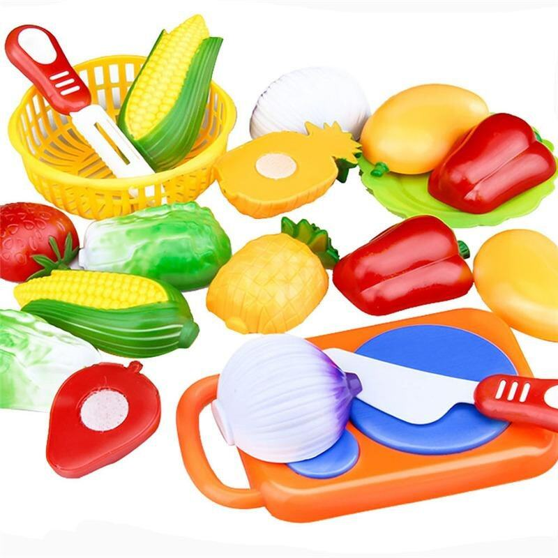 103413f11ee6 12 Pcs Set Kids Toy Plastic Fruit Vegetable Food Cutting Pretend Play Early Educational  Children