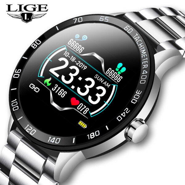 LIGE Men Watch Jam lelaki Smart watch Heart Rate Blood Pressure Fitness Tracker Pedometer Jam tangan Waterproof Sport watch Malaysia
