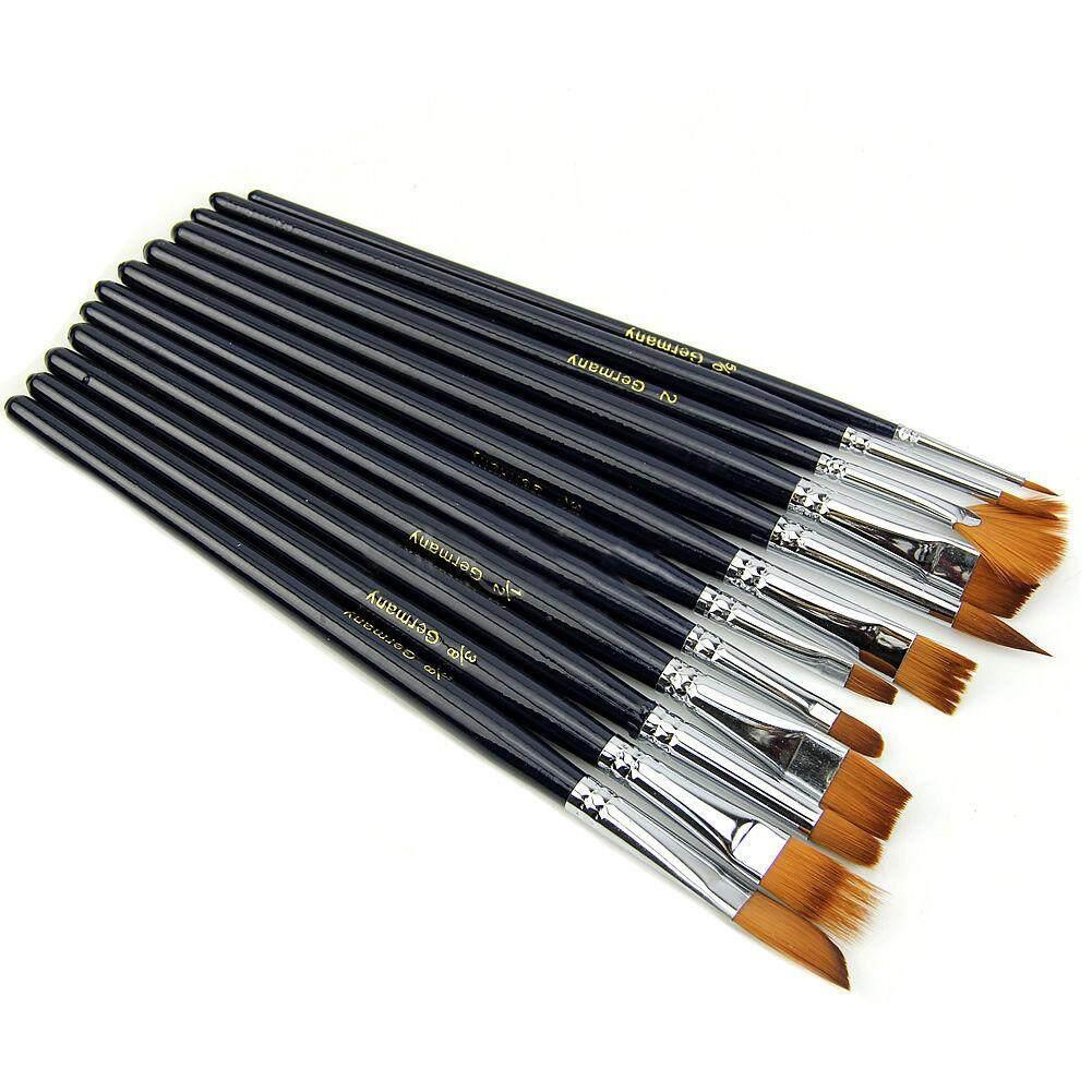 Mua 12X Nghệ Sĩ Sơn Bộ Bàn Chải Lông Nylon Màu Nước Acrylic Tranh Sơn Dầu Cung Cấp