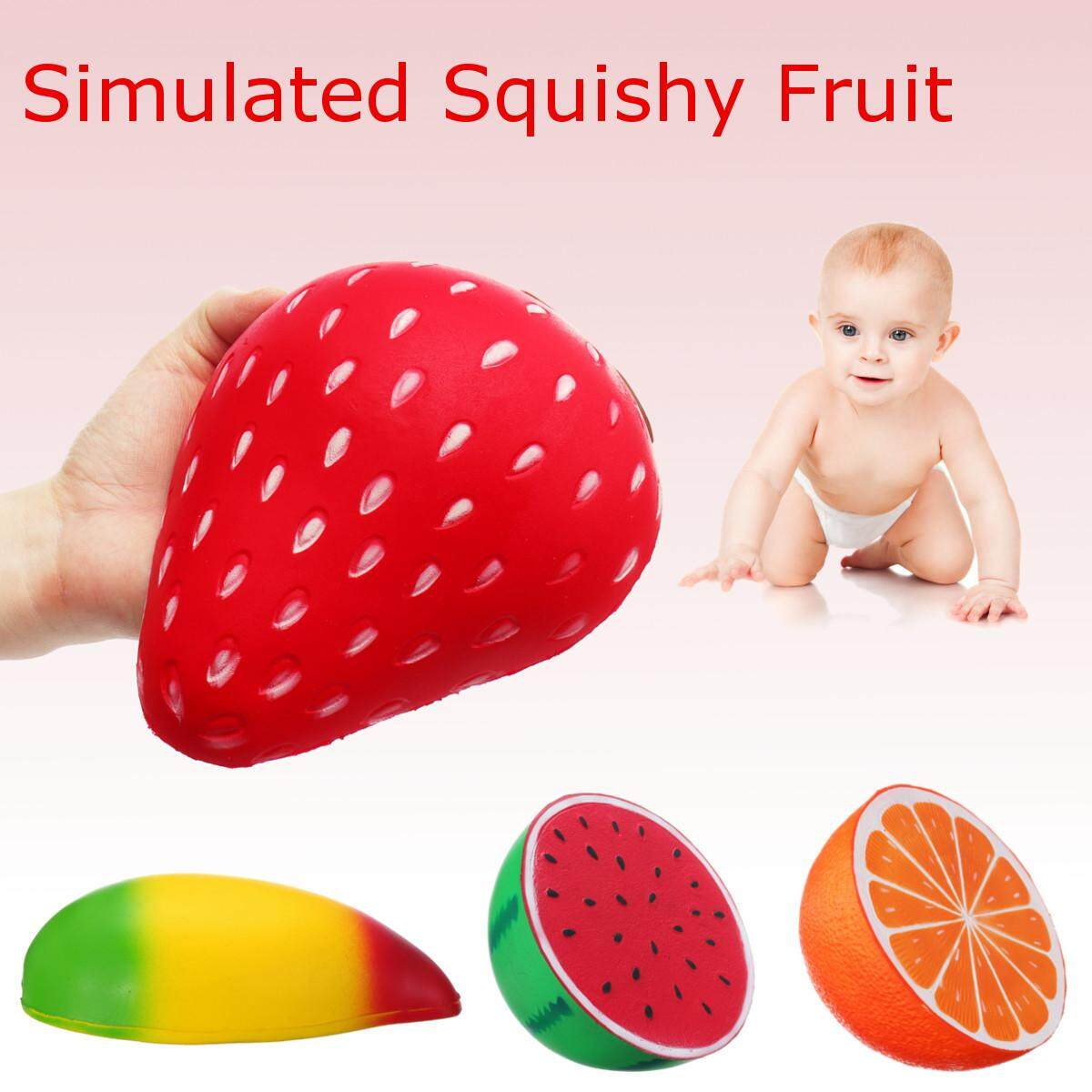 New Jumbo Super Giant Soft Squishy Watermelon Orange Strawberry Slow Rising
