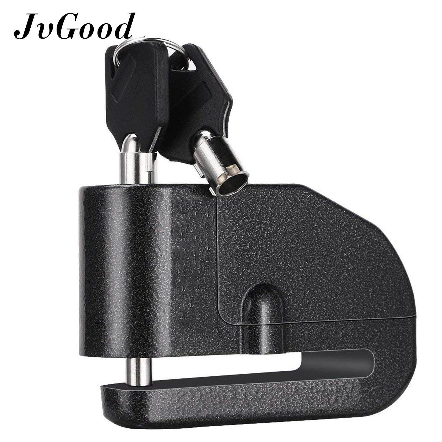 Jvgood Bike Alarm Lock Motorcycle Bike Anti-Theft Wheel Disc Brake Alarm Lock Padlock Waterproof Loud 110db Alarm Sound For Motorcycle Electrombile Bike Scooters By Jvgood.