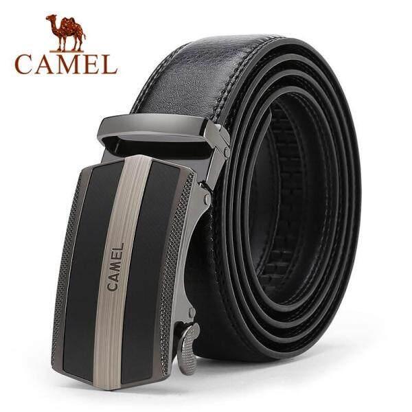 Thắt Lưng Khóa Tự Động Dành Cho Nam Camel, Da Bò Thật 100%, Thắt Lưng Thường Ngày Phong Cách Doanh Nhân