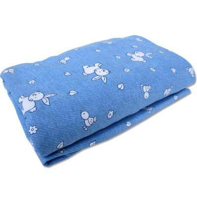 Bumble Bee: Playpen Fitted Sheet ( 41 X 28 ) (knit Fabric) - Denim Bunny By Littlewhiz Marketing Sdn Bhd.