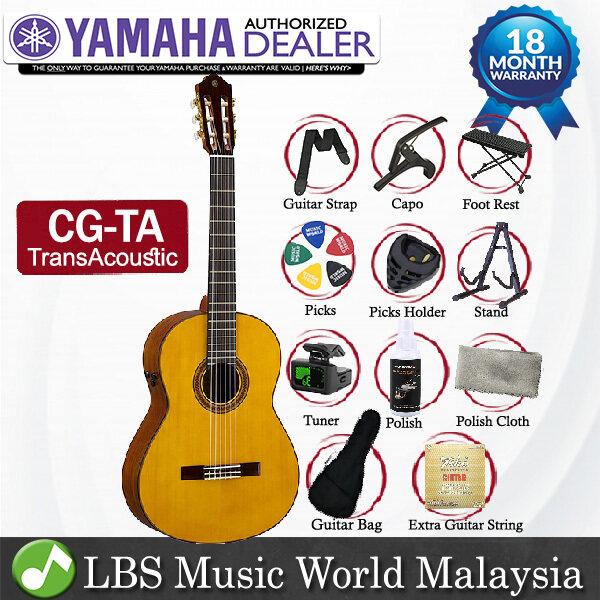 Yamaha CG-TA TransAcoustic Nylon String Acoustic Electric Classical Guitar Engelmann Spruce Top Natural Gloss Malaysia