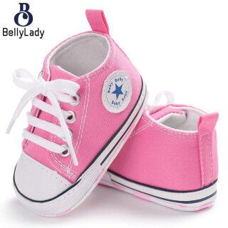 BellyLady Giày Em Bé, Giày Đi Chơi Thể Thao Cho Trẻ Sơ Sinh Tập Đi Bằng Vải Bố Đế Mềm Thời Trang thumbnail