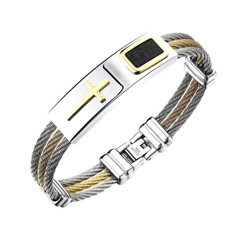 ... Perhiasan Baja dan Gelang Salib untuk PriaIDR131000. Rp 132.000