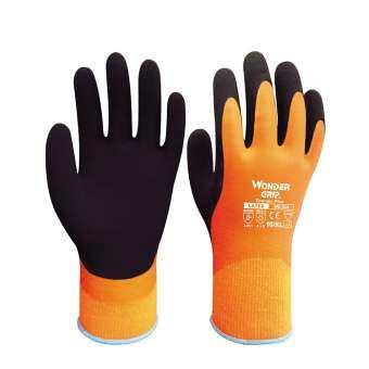 Wonder Grip WG-338 Thermo PLUS Coldproof ถุงมือทำงานน้ำยางสองชั้นเคลือบป้องกันถุงมือทำสวน X - ขนาดใหญ่-