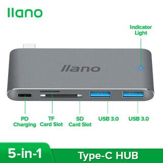 Trạm Sạc Llano USB3.0 Type-C, Với Chức Năng Sạc PD Bộ Chuyển Đổi USB-C 5 Trong 1 Dành Cho MacBook Pro thumbnail