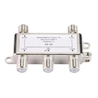 5-2400MHz 4 Way HD Kỹ Thuật Số Coax Cable Splitter 4 Kênh Vệ Tinh Antenna TV Nhà Phân Phối Tín Hiệu Receiver Cho SATV CATV thumbnail