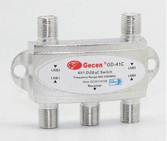 Gecen 4 X 1 Diseqc Switch Gd-41c For Satellite Receiver By One Item.