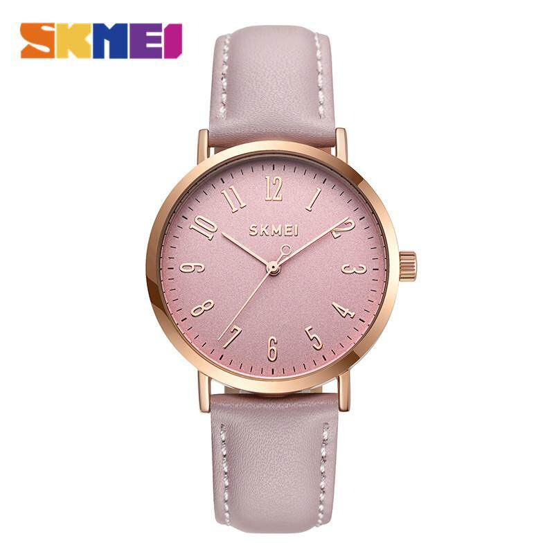 SKMEI New Women Fashion Watches Simple Quartz Watch Leather Ladies Waterproof Casual Wristwatches Female Clock 1463