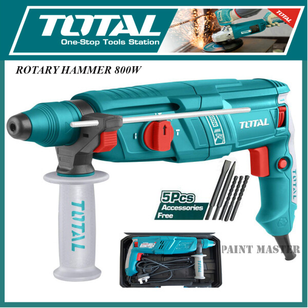 TOTAL 3 IN 1 26MM ROTARY HAMMER 800W (TH308266)