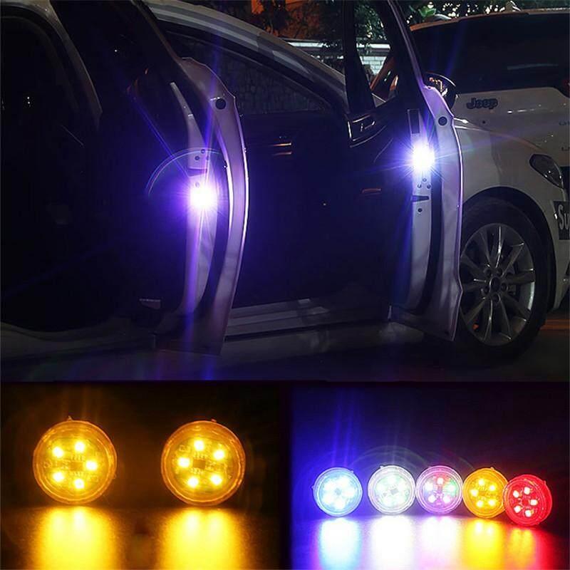 Mobil Lampu Pintu LED Peringatan Anti Tabrakan Magnetik Lampu Berkedip 2 Pcs Auto Strobo Lampu Lalu