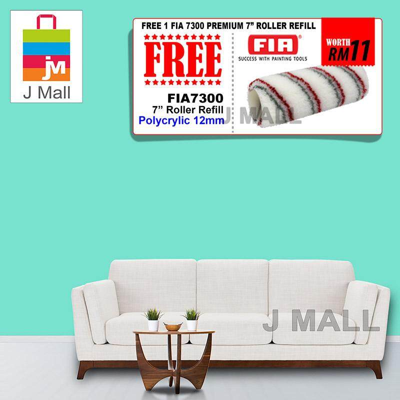 Apple Paint Interior Ecoplus E.Green AP 8003 - 7L [ + Free Gift 1pc FIA 7300 Premium 7 Roller Refill ]