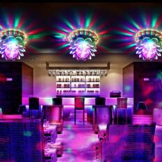 Hình Dạng Hoa Sen Nở Đèn RGB Trang Trí Sân Khấu Câu Lạc Bộ KTV Hiệu Ứng Ánh Sáng Tự Động Xoay Pha Lê Đèn LED