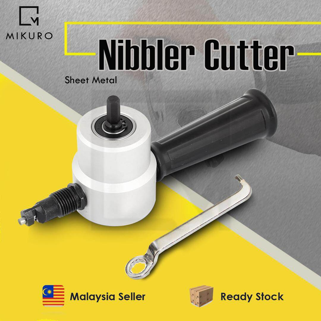 Metal Tools Attachment Sheet Metal Nibbler Cutter Fits Electric Cordless Drill
