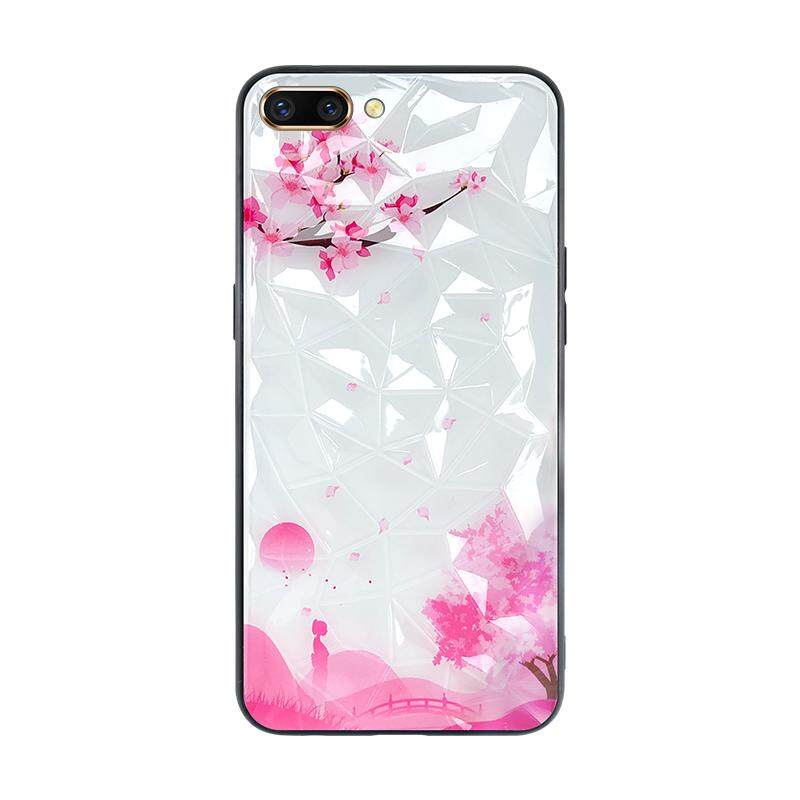 Patterned Diamond Phone Case For OPPO A5 / A3s / Realme C1 TPU PC Back  Cover Phone Case