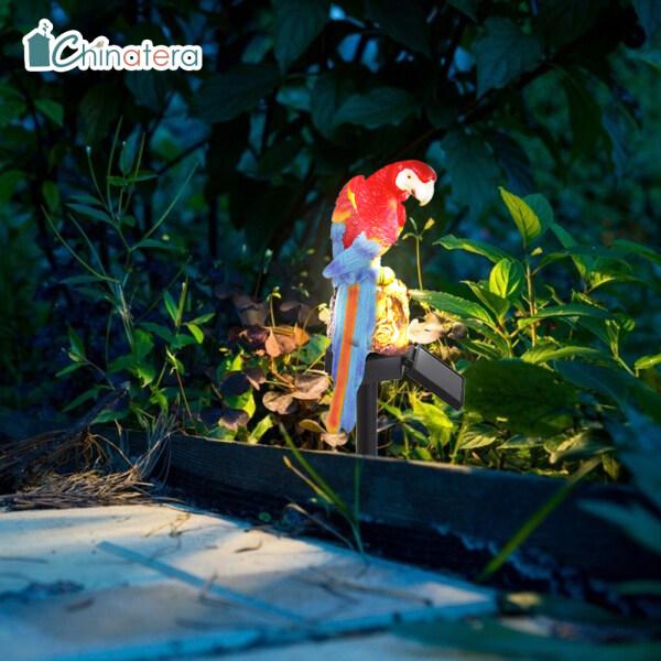 Đèn Năng Lượng Mặt Trời Tự Động Chinatera, Đèn LED Cảnh Quan Sân Vườn, Dành Cho Vẹt, Dùng Ngoài Trời