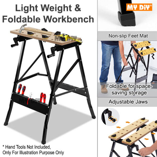 MYDIYHOMEDEPOT - Work Bench Portable Work Table Portable Work Bench Vice Table Multifunction Wood Working Workbench Foldable Universal Work Bench / Multifunctional Workshop Work Bench Table for Clamping Painting Cutting,