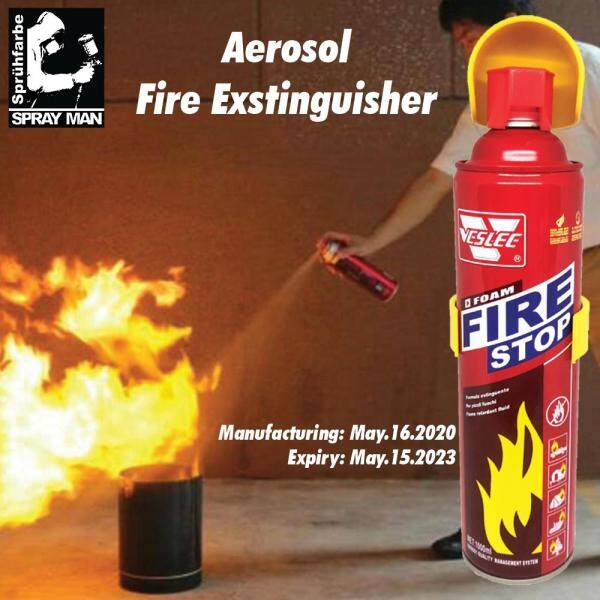 Fire Stop Foam Fire Fighting Aerosol Spray 1000ml Latest Stock Extinguisher