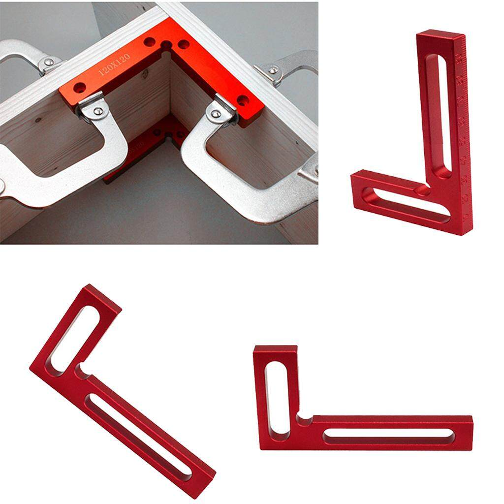 Dolity 4pcs 90Deg Precision Positioning Squares Right Angle Clamps Carpenter Tool