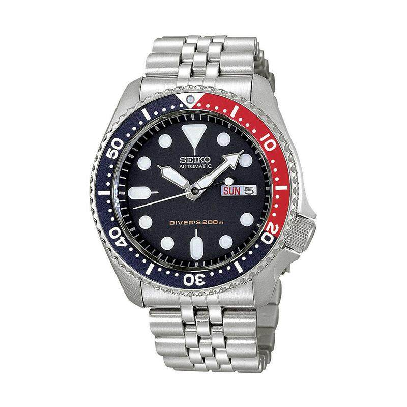 Seiko Mens Automatic Diver Silver Stainless Steel Band Watch SKX009K2 (watch for man / jam tangan lelaki / men watch / watch for men) Malaysia