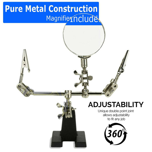 YKS Third Hand Soldering Solder Iron Stand Holder Magnifier Helping Tool Station